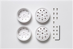 Tamiya RC 22mm Rear Wheels 2pcs - White