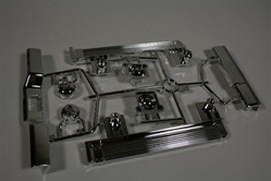 Tamiya RC Pajero H parts  Bumpers, Headlight Buckets, Fog light buckets.