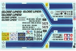 Tamiya RC Globe Liner Sticker Sheet