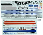 Tamiya RC HIlux Sticker A & B Metal Transfer Rubber Sheet
