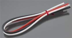 "Tekin 12awg Silicon Power Wire 3pcs 12"" Red/Black/White"