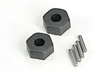 Traxxas Wheel hubs rear, hex/stub axle pins.