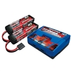 Traxxas 3S Battery/Charger Combo: (2) 11.1V 5000mAh LiPo Battery, (1) EZ-Peak Dual ID Charger