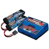 Traxxas 2S Battery/Charger Combo (2) 7.4V 7600mAh LiPo Battery (1) EZ-Peak Dual ID AC Charger