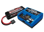 Traxxas Battery/Charger Completer Pack #2971 iD Charger (1), #2889X 4S 14.8V 5000mAh 25C LiPo Battery (1)