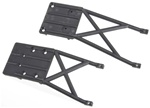 Traxxas Front & Rear Skidplates, Black: Slash