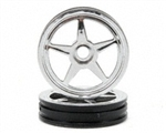 Traxxas Front 5-Spoke Wheel Set (Chrome) (2)
