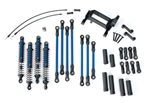 Traxxas Long Arm Lift Kit TRX-4 Complete Blue (Blue Powder Coated Links Blue-Anodized Shocks)