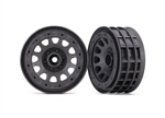 "Traxxas Wheels Method 105 2.2"" BeadlTraxxas Wheels Method 105 2.2"" Beadlock (Charcoal Gray) (2)ock (Black Chrome) (2)"