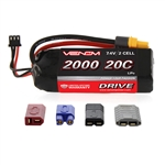 Venom Racing 2000mAh 2S 7.4V 20C LiPo Battery - UNI 2.0