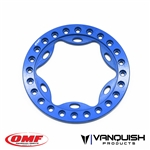 Vanquish Products OMF 1.9 Scallop Beadlock Blue Anodized (1)