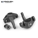 Vanquish Products Axial Yeti / EXO Steering Knuckles Grey Anodized