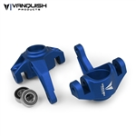 Vanquish Products Axial Yeti / EXO Steering Knuckles Blue Anodized