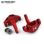 Vanquish Products Axial Yeti / EXO Steering Knuckles Red Anodized