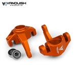 Vanquish Products Axial Yeti / EXO Steering Knuckles Orange Anodized