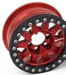 Vanquish Products Single Method 1.9 Race Wheel 101 Red Anodized V2 (1)