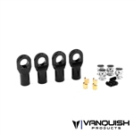 Vanquish Products Machined M4 Straight Rod Ends Black Anodized