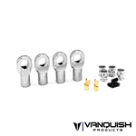 Vanquish Products Machined M4 Straight Rod Ends Clear Anodized