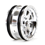 "Vaterra Ascender Wheel 8 Spoke 1.9"" Chrome (4)"