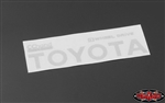 RC4WD Metal Rear Emblem for TF2 Mojave Body (White)