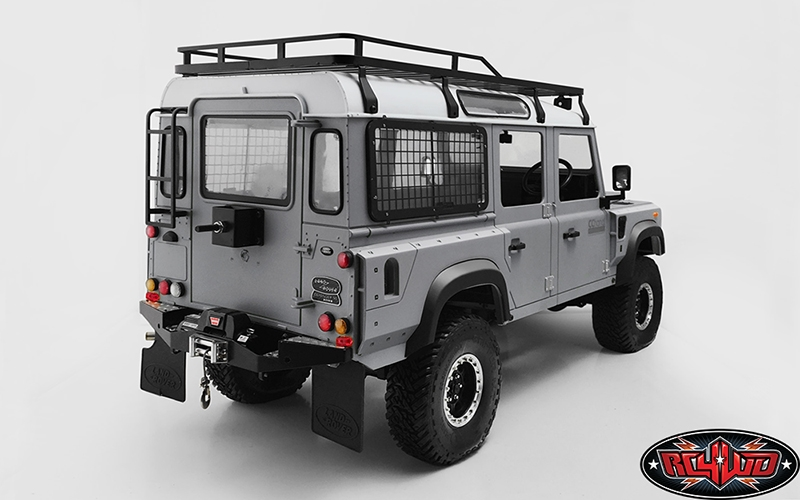 rc4wd kahn style wide fenders for land rover d110 body (black