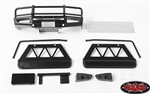 RC4WD Trifecta Front Bumper, Sliders and Side Bars for Land Cruiser LC70 Body (Black)