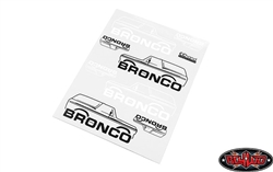 RC4WD Body Decals for Traxxas TRX-4 '79 Bronco Ranger XLT (Style B)