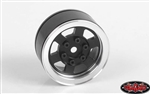 "RC4WD Six-Spoke 1.55"" Internal Beadlock Wheels (Black) (4)"