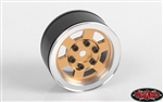 "RC4WD Six-Spoke 1.55"" Internal Beadlock Wheels (Gold) (4)"