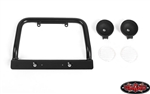 RC4WD Steel Push Bar Front Bumper with Flood Lights for RC4WD Gelande II 2015 Land Rover Defender D90 (Clear)
