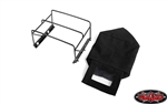 RC4WD Steel Tube Bed Cage with Soft Top for RC4WD Gelande II 2015 Land Rover Defender D90 (Pick-Up) (Black)