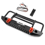 Yeah Racing Aluminum Alloy Front Bumper w/ LED Light (Black) TRX-4 / SCX10 II