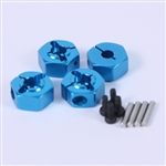 Yeah Racing Aluminum 12mm Wheel Hex Adapter Set Blue