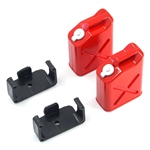 Yeah Racing 1/10 RC Rock Crawler Accessories - Fuel Can Red (2)