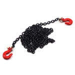 Yeah Racing 1/10 RC Rock Crawler Accessories - 96cm Long Black Chain and Red Hook Set