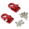 Yeah Racing 1/10 RC Rock Crawler Accessories - Heavy Duty Shackle w/Mounting Bracket (Red)