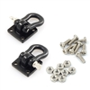 Yeah Racing 1/10 RC Rock Crawler Accessories - Heavy Duty Shackle w/Mounting Bracket - Black