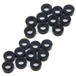 Yeah Racing Aluminum M3 Flat Washer 2.5mm (20pcs) Black