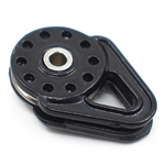 Yeah Racing Heavy Duty Winch Snatch Block Black