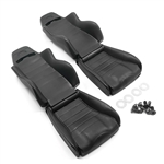 Yeah Racing Hard Plastic Seats 2pcs For 1/10 Crawler Black