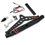 Yeah Racing Aluminum Alloy Rear Bumper & Spare Tire Mount w/ LED Light For SCX10 II - TRX-4