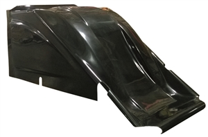 XXX 600 Mini Sprint Hood.  Dual Duct.  Black.