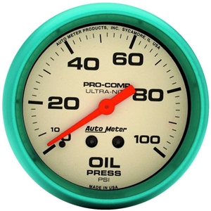 AutoMeter Ultra-Nite Analog Oil Pressure Gauge 4521