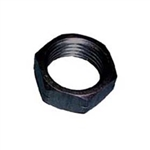 "5/16"" Aluminum Jam Nut.  Left Hand.  Black."