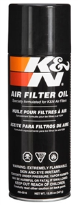 K&N Air Filter Oil 12oz  Aerosol can
