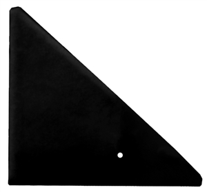 Triple X Midget Left Side Front Panel.  Fiberglass.  Black.