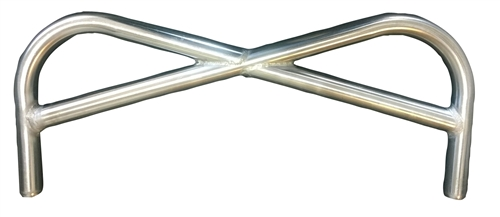 Triple X Sprint Car Pretzel Front Bumper. Stainless Steel. Polished.