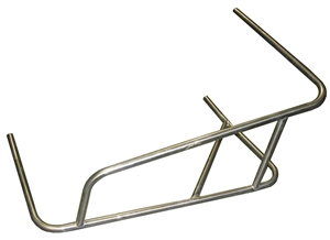 XXX Sprint Car Left Nerf 3-Point Long Battle Bar. Raised Rail.  Stainless Steel.