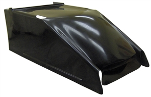 "XXX Sprint Car 'Clean Air' Hood.  2"" Taller.  Black."