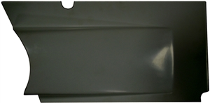 XXX Sprint Car Upper Kick Panel (Horizontal Split Design).  Right.  Black.